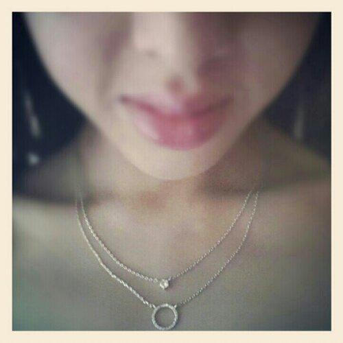 Wanderlustandco Petite Eternity & Diamante Silver necklace